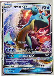 Lapras-GX-35-149-Holo-Rare-Sun-amp-Moon-Pokemon-Card-NM-With-Tracking