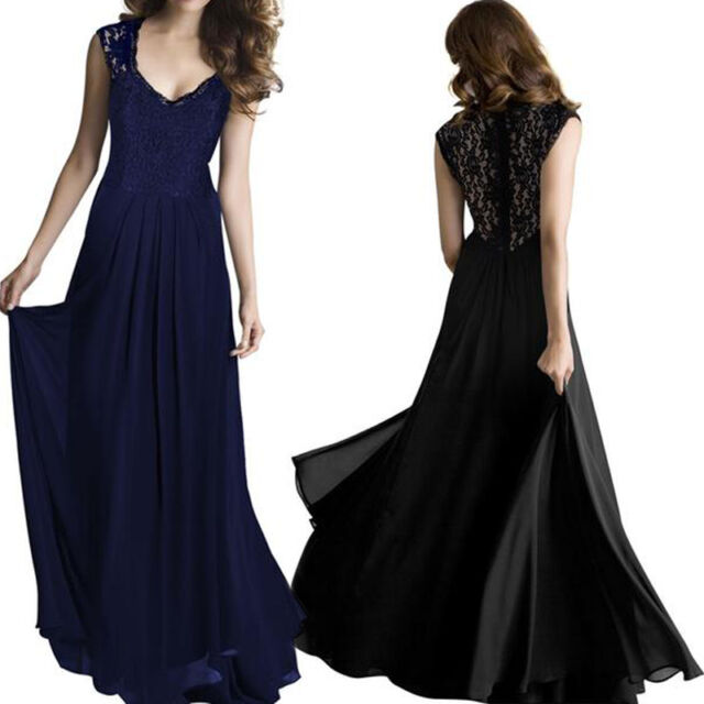 Sexy Womens Summer Long Maxi Evening Party Cocktail Prom Formal Chiffon Dress