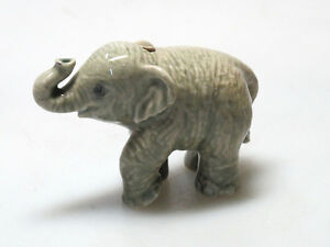 Porcelain Miniature Collectible Ceramic Siam ELEPHANT Figurine Incense Holder