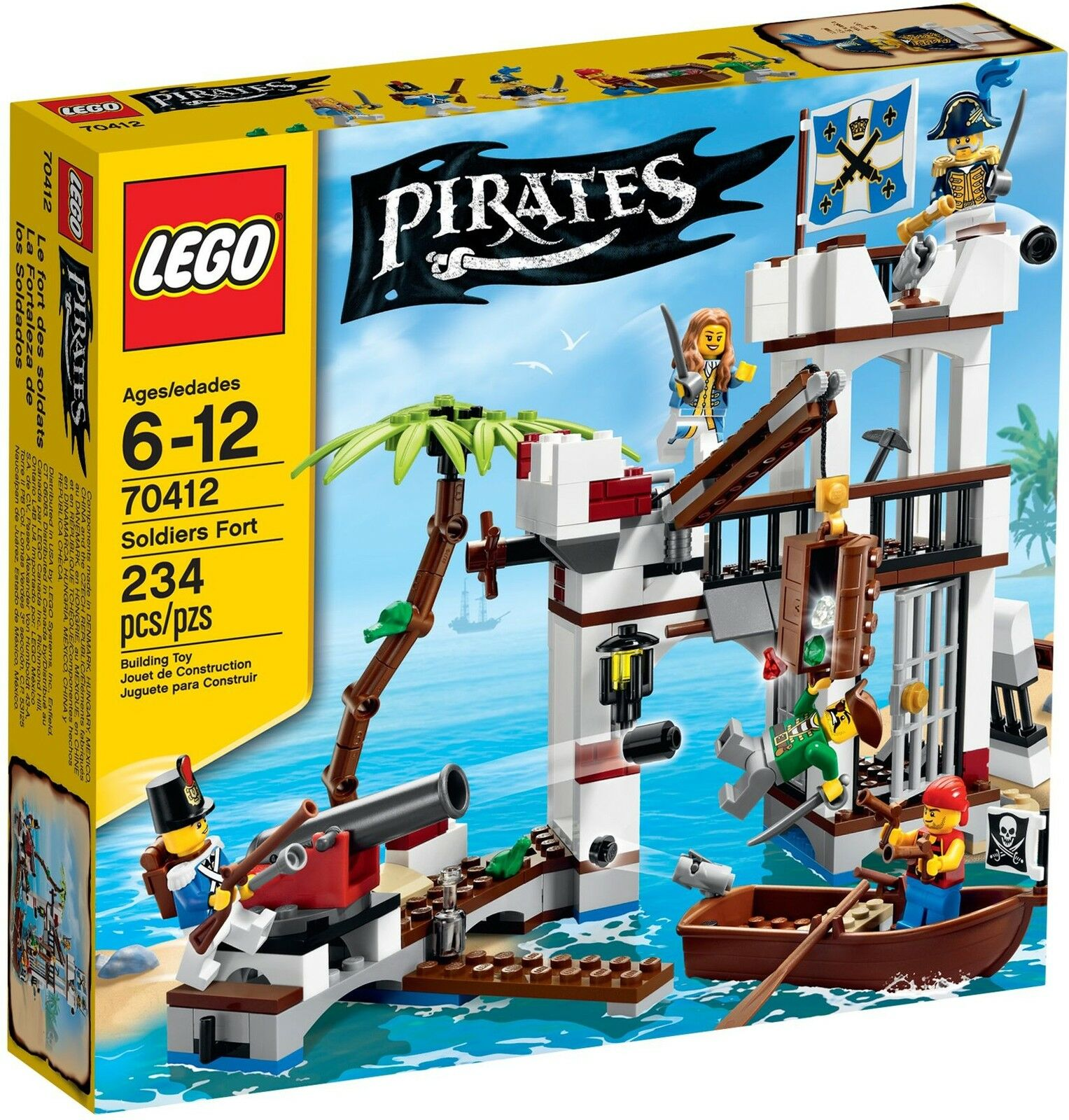 LEGO Pirates - 70412 soldati Fort-NUOVO & OVP