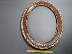 Old Oval Wooden Frame Art Deco Old Vintage Deco Frame Ebay