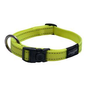 "Rogz Dog Side Release Collar Utility - 3/4"" Fanbelt Large 13-19in - DayGloYellow"
