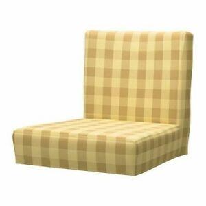New-Ikea-Henriksdal-Bar-stool-COVER-in-Skaftarp-Yellow-603-712-48