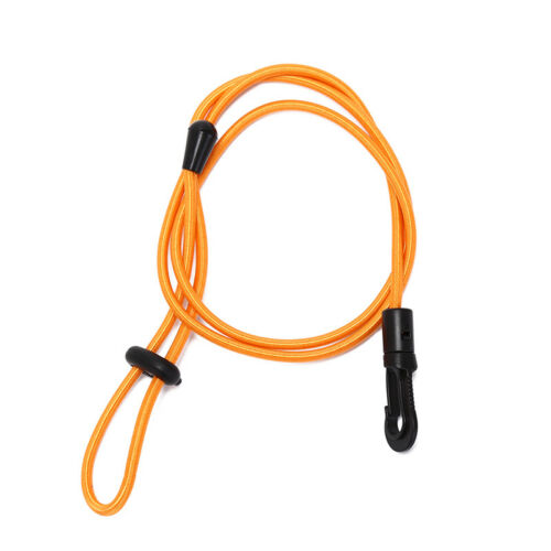 elastic rubber bungee cord fishing rod// kayak paddle leash with snap hook GG