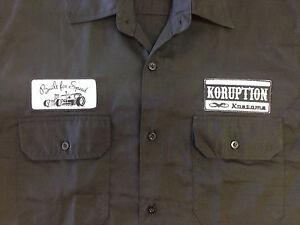 Men-039-s-BLACK-Rockabilly-Hotrod-Kustoms-Garage-Shirt-NEW-SIZES-M-L-XL-2XL