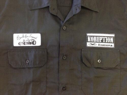 Men/'s BLACK Rockabilly Hotrod Kustoms Garage Shirt NEW!!SIZES M L XL 2XL
