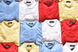 2 X Boys Plain Polo Tee T-Shirt School Top Shirts Uniform PE Top Gym Tops Shirts