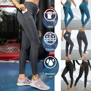 Pockets-Women-Compression-Leggings-Ladies-Sports-Trousers-Yoga-Pants-Gym-Running