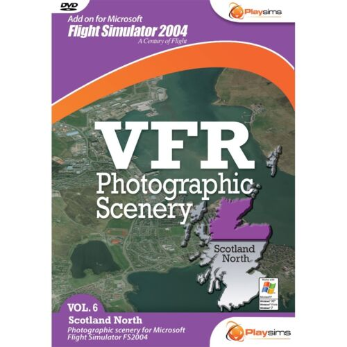 Playsims Publishing VFR Photographic Scenery - Volume 6 Scotland North for FS200