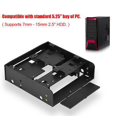 3.5 to 5.25 Drive Bay Computer Case Adapter HDD Mounting Bracket SSD 2.5