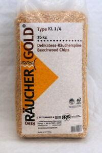 Räucherspäne 15kg Kl1/4 Räuchermehl Räuchergold