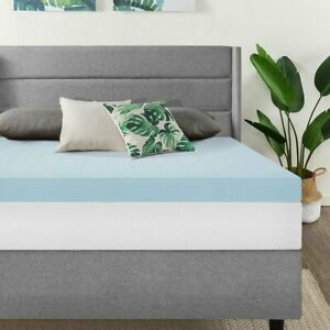 2 5 3 4 Comfort Gel Memory Foam Mattress Topper Twin Full Queen King Size Ebay