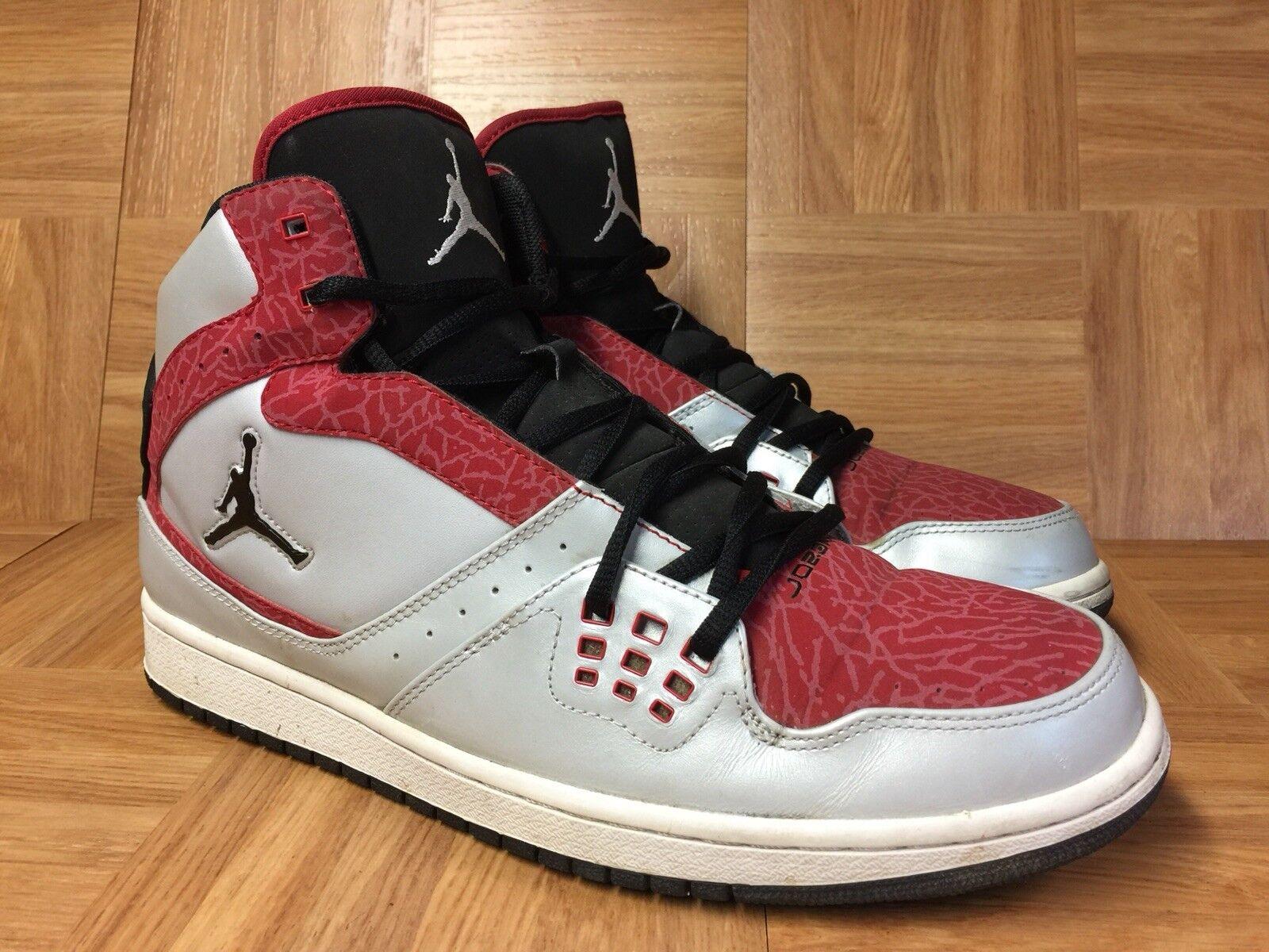 fd72da286271 RARE RARE RARE Nike Air Jordan Flight Platinum Black Red Silver Size 11  372704-017