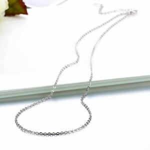 18K-White-Gold-Plated-Sleek-Chain-Necklace