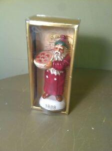 Vintage Memories Of Santa 1888 Ceramic Christmas Ornament Mib