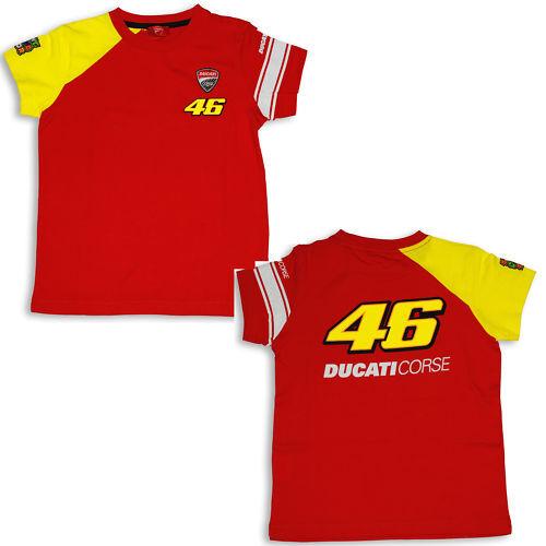 Ducati Corse Kids T-Shirt Valentino Rossi D46 Start Kids Moto Gp New