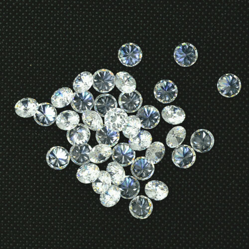 Wholesale 20pcs Lot White AAA Quality CZ Cubic Zirconia Loose Stone SIZE 2-5mm