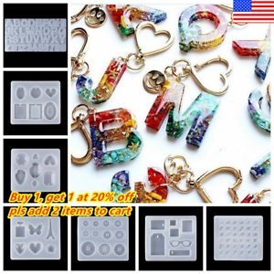Silicone Pendant Mold Making Jewelry Tool For Resin keychain Mould Casting Craft