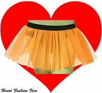 Neon UV Orange tutu skirt Punk Cyber Rave Dance Pumpkin festival party Halloween