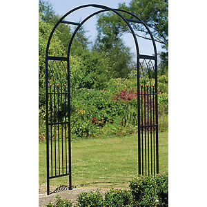 Merveilleux Image Is Loading Metal Garden Arch Steel Arbor Westminster Frame Black
