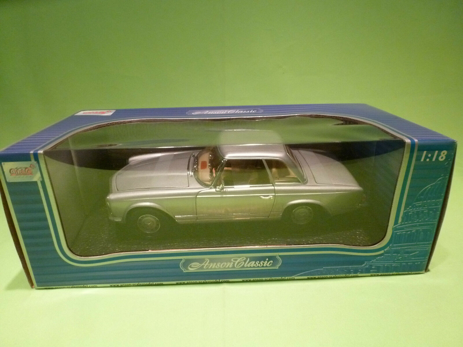 ANSON 1 18 MERCEDES BENZ 280 SL  - RARE SELTEN - GOOD CONDITION IN BOX