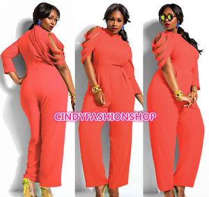 9ac3d97858e Plus Size Women New Loose Club wear Evening Party Jumpsuit Romper ...
