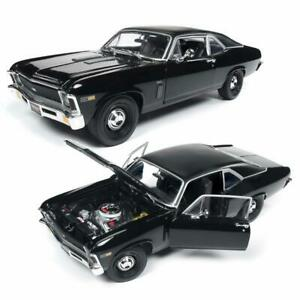 AUTOWORLD-AMM1178-1969-CHEVROLET-NOVA-BLACK-034-MCACN-034-DIECAST-MODEL-CAR-1-18