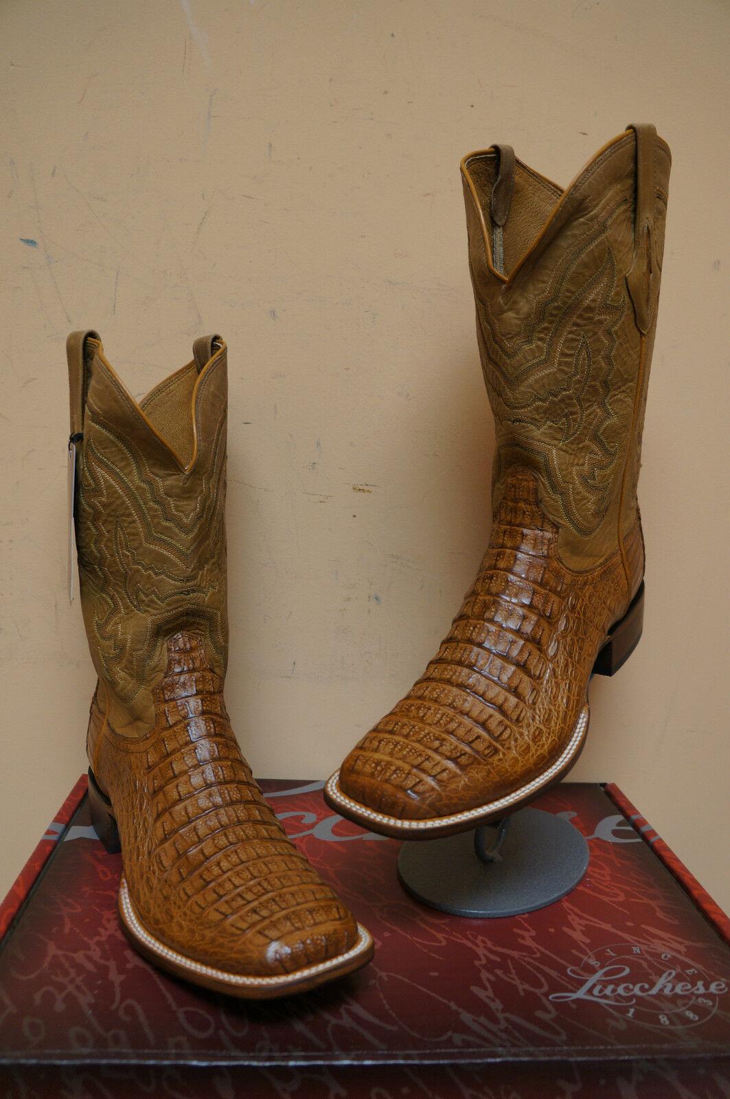 MENS LUCCHESE M4541.TWF TAN HORNBACK HORNBACK HORNBACK CROCODILE BACK CUT COWBOY WESTERN Stiefel a5028a