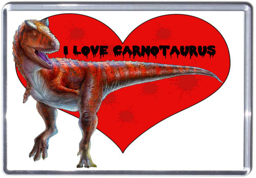 I Love Carnotaurus Fridge Magnet Dinosaur collection