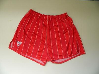 Importato Dall'Estero Vintage Anni 1980 Viga Rosso Nylon Lucido Look Bagnato Glanz Sport Pantaloncini-xs Uk Made-mostra Il Titolo Originale