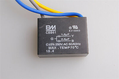 NEW CEILING FAN CAPACITOR 4 uF ± 5-10 /% 250 VAC