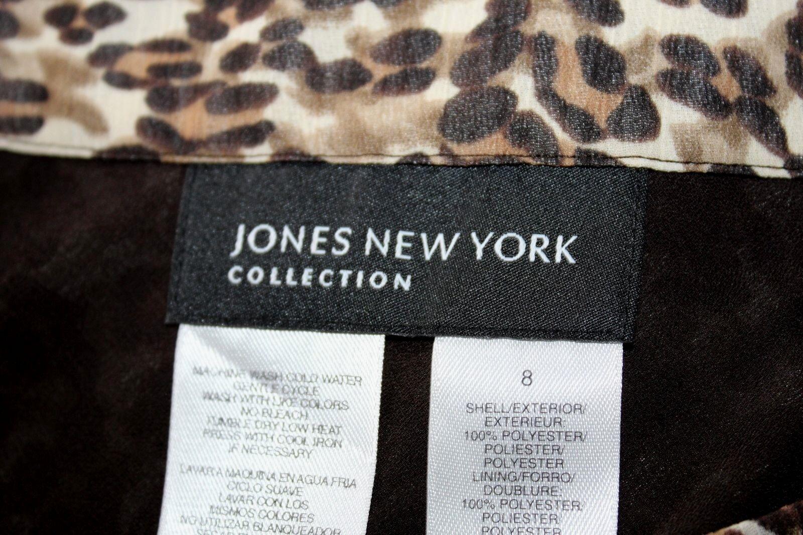 Jones New York - 8 (M) - Nuovo Nuovo Nuovo senza Etichetta - Marronee e Beige Chetah b6e220