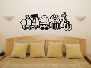 TRAIN-animaux-creche-enfants-pour-chambre-decalcomanie-autocollant-Art-mur-image