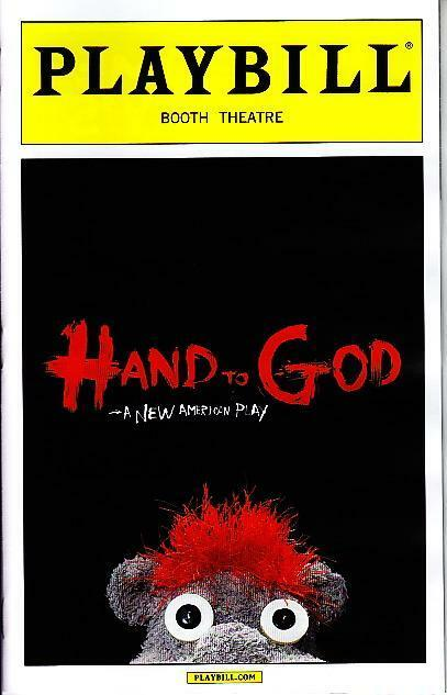 HAND TO GOD PLAYBILL BROADWAY NYC NEW YORK APRIL 2015 STEVEN BOYER