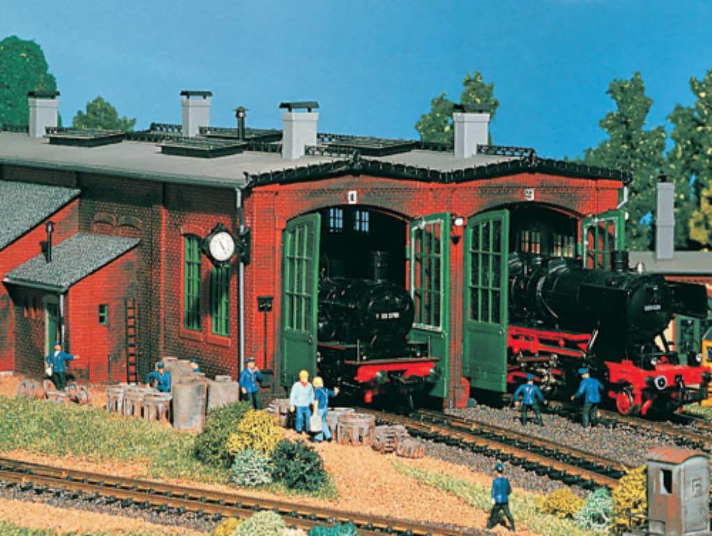 Vollmer 45752 45752 45752 Lokschuppen 2-ständig H0 Bausatz Neu  | Hohe Qualität und günstig  b5df0b