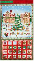 Christmas Village Advent Calendar Fabri-quilt 100% cotton fabric by the panel