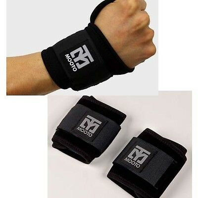 Korean boxing Black Split 1pair Mooto TaeKwonDo Wrist Supporter Guard Protector