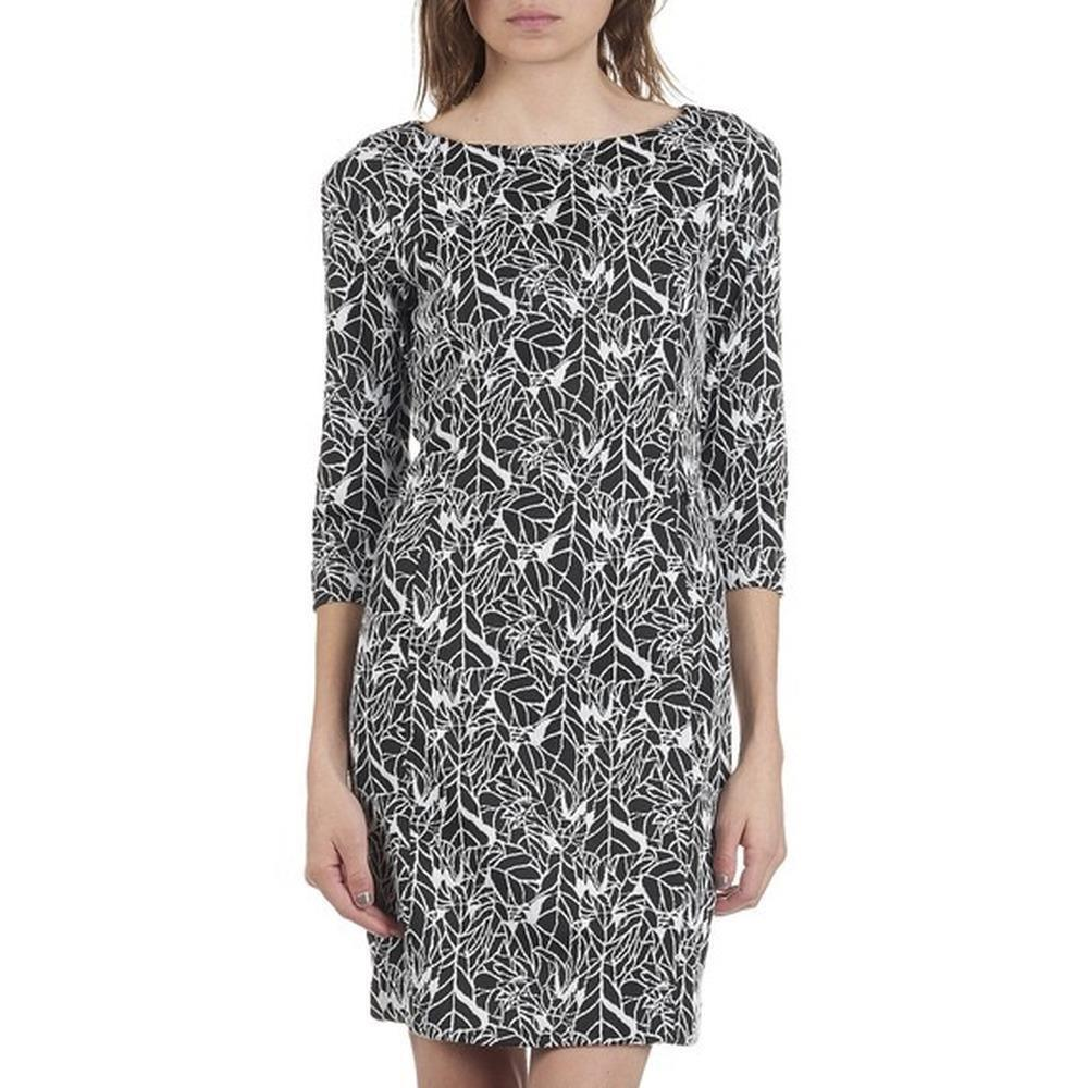 Armani Jeans Abstract Leaf Print Dress Größe 40   UK 8 schwarz