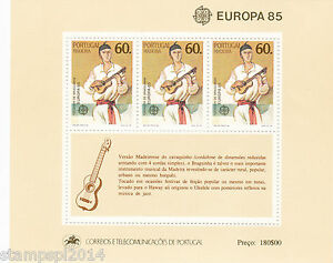 PORTUGAL-MADEIRA-S-S-EUROPA-CEPT-1985-MNH