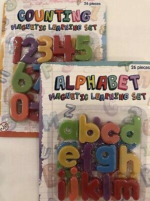 Cosciente Set Di Apprendimento Magnetico-alfabeto O Numero-frigo Magneti-spedizione Gratuita-mostra Il Titolo Originale