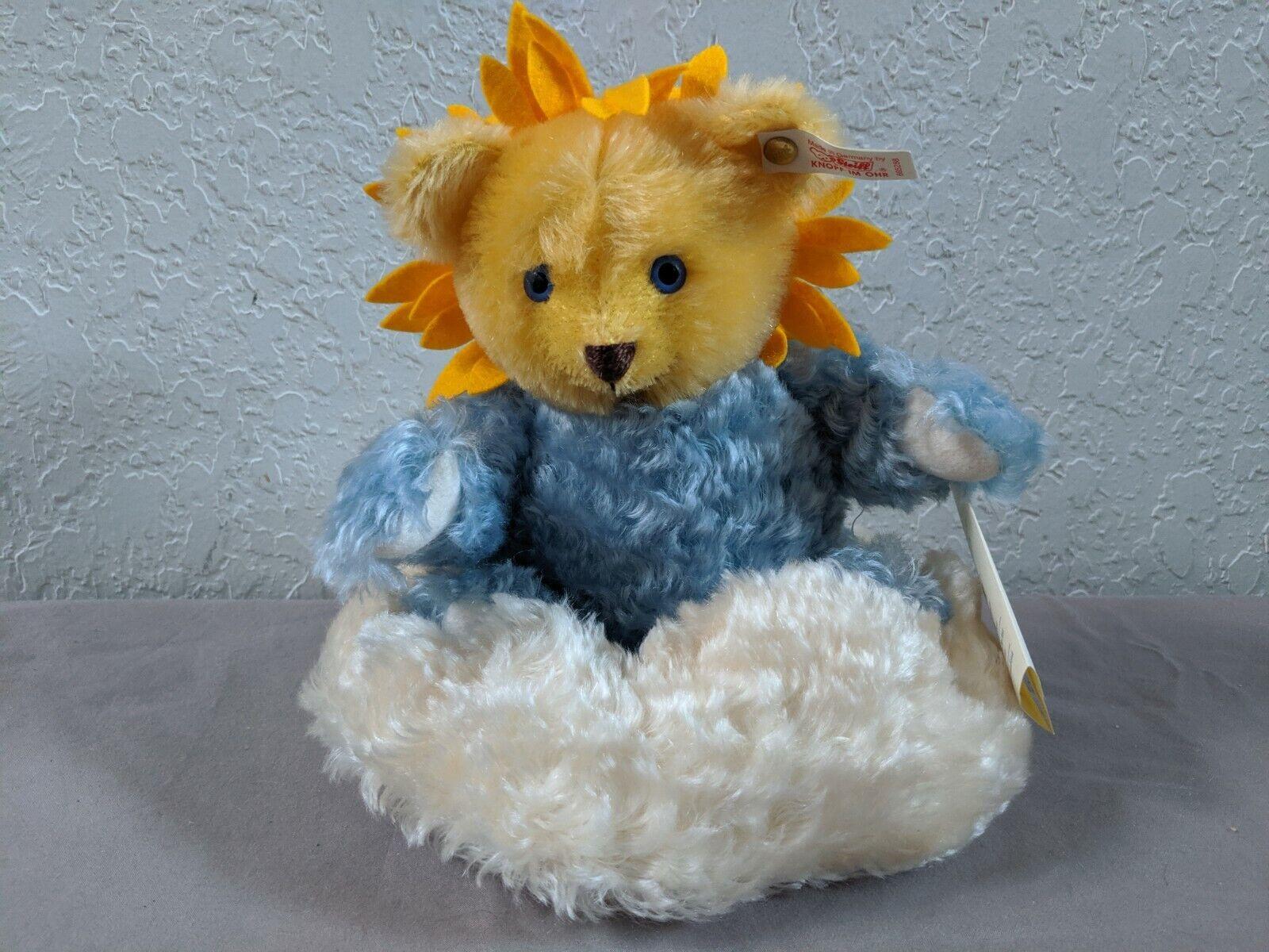 STEIFF SUN BEAM MOHAIR BEAR 665288 8.5 , DRAWSTRING BAG