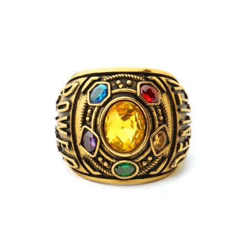 Comics Avengers Infinity Guerra Thanos Gema Anillo Conjunto Nuevo Caja Para Mujer Talla 8-12