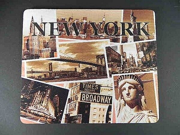 New York City Mouse Pad Mousepad Mauspad,23 cm,Broadway Times Square