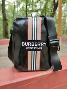 Auth-Burberry-Messenger-amp-Crossbody-Bag-Black-New-with-dust-bag