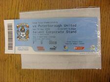 12/12/2009 BIGLIETTO: COVENTRY CITY V Peterborough United (creazioni Sky Lounge, c