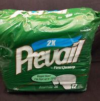 Prevail 2x Hips 73 Briefs Culottes Unisex Disposable Underpants 12 Count