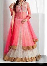 Ezone Women's Pink panther fancy lehanga designer embroidery Lehenga