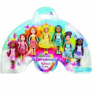 Barbie-Dreamtopia-Rainbow-Cove-7-Doll-Chelsea-Gift-Set-Toy