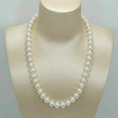 Top Grading AAAAA Japanese Akoya 10-12mm white pearl pendant 14K White Gold