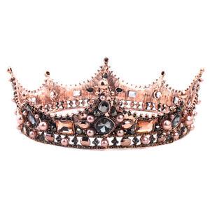 Vintage-Wedding-Bridal-Crystal-Crown-Tiara-Headband-Hair-Accessories-Prom-Pa-ME